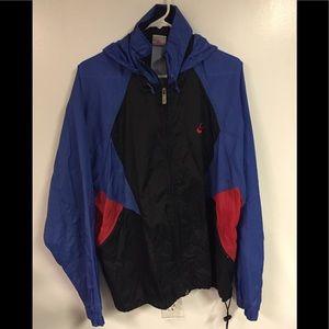 Nike Mens 90s Windbreaker Jacket Blue/Black/Red